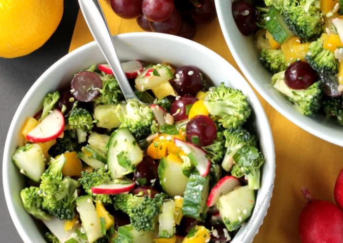 Photo Raw Chopped Veggie Salad from VeggieInspiredJourney.com