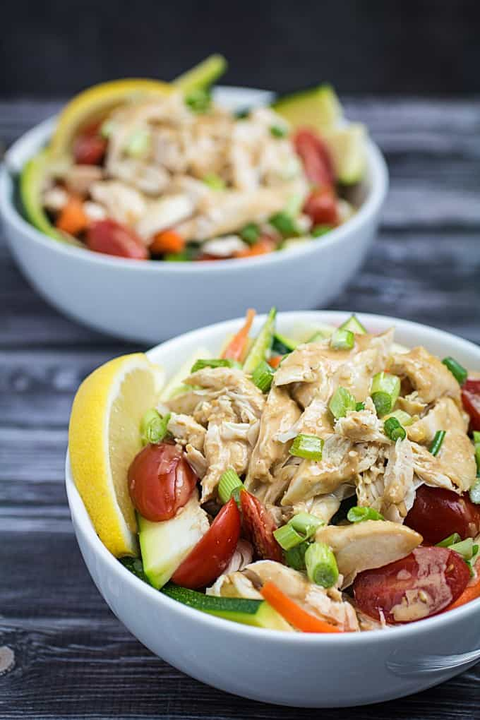 Grilled Chicken Salad with Thai Peanut Dressing Recipe