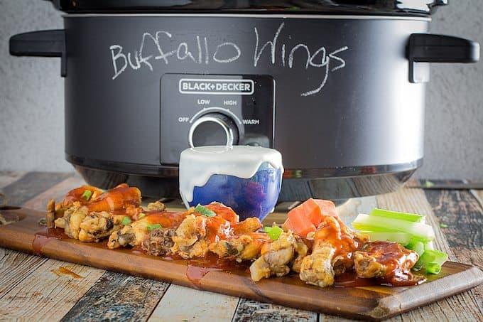 slow cooker buffalo chicken wings