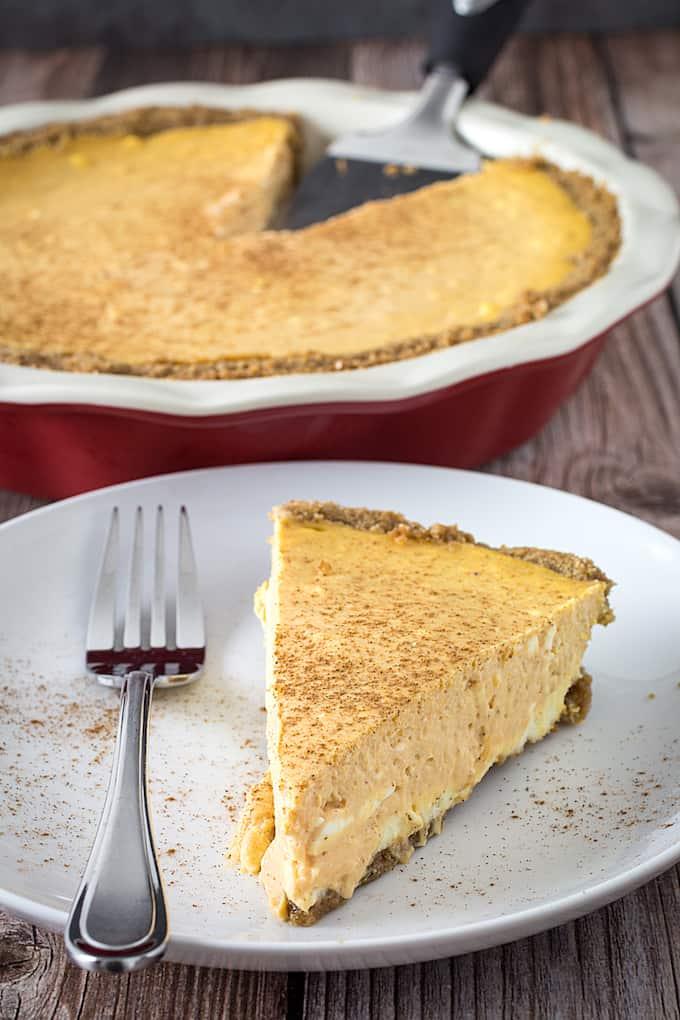 gluten free pumpkin pie cheesecake