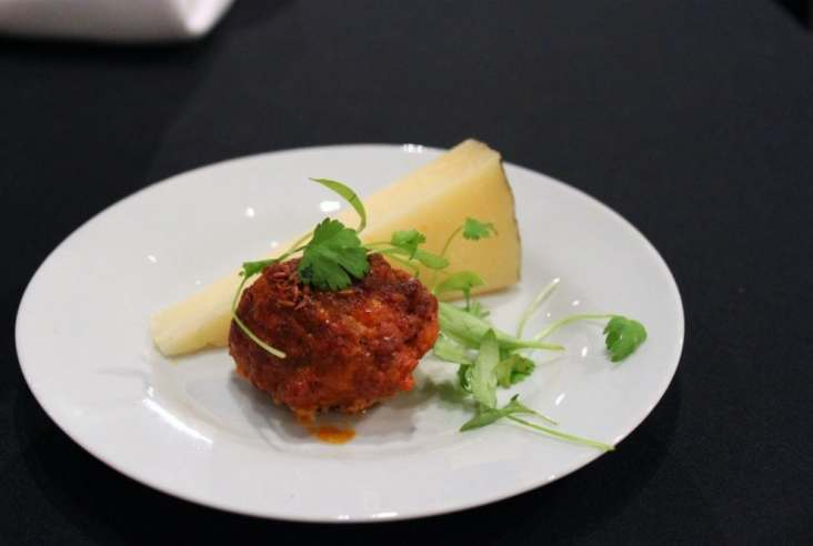 Chorizo Meatball from Top Chef René Rodriguez