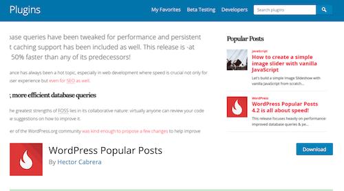 WordPress Popular Posts(熱門文章統計外掛)