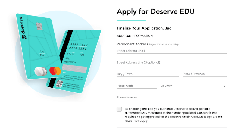 deserve edu信用卡 申請