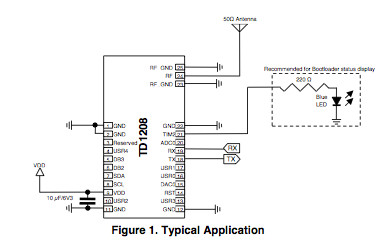 TD1208 typical application