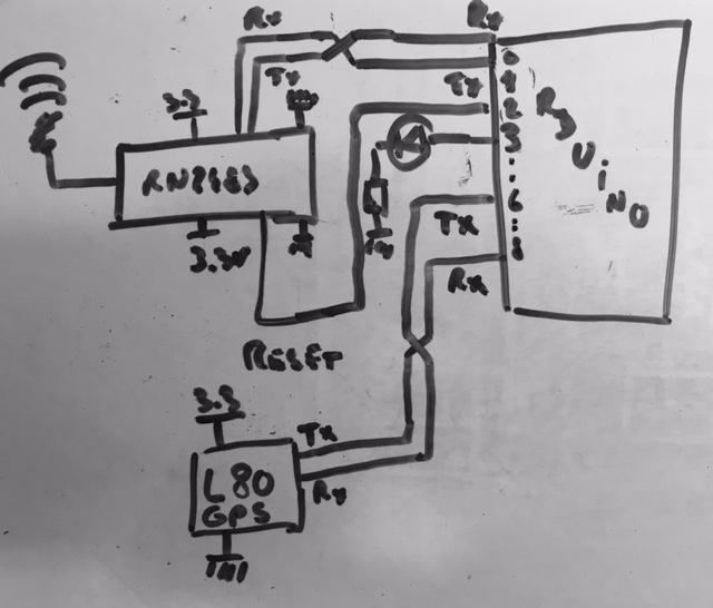 Arduino LoRa GPS circuit