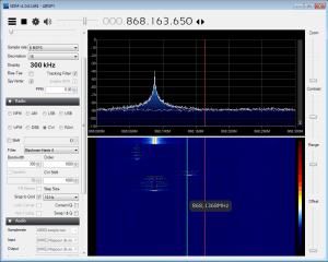 Take a look at SigFox radio signals with airspy usb software