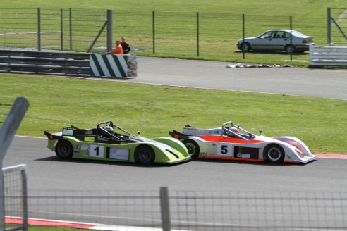 Cutmore's move for the lead at Brooklands