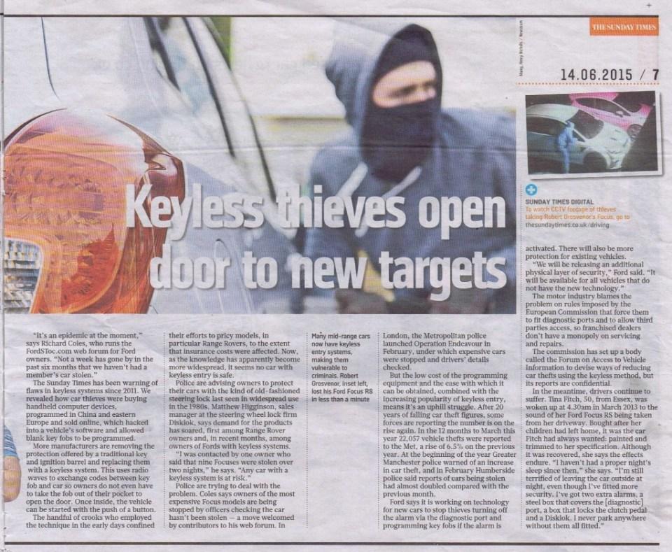 Sunday Times - Keyless pg2