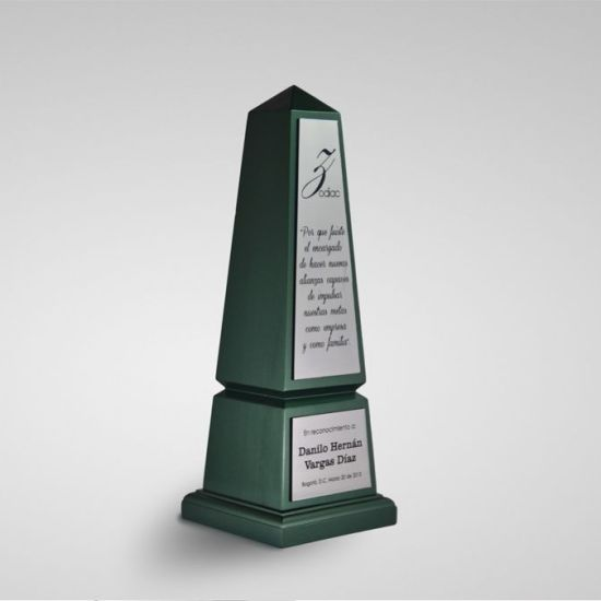 trofeos en bogota OBELISCO ZADOC