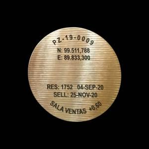 Grabado Láser en Bogotá Moneda Bronce