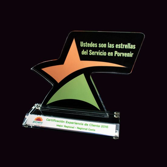 Placa Conmemorativa Estrella Porvenir