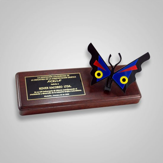 Placa Reconocimiento Mariposa