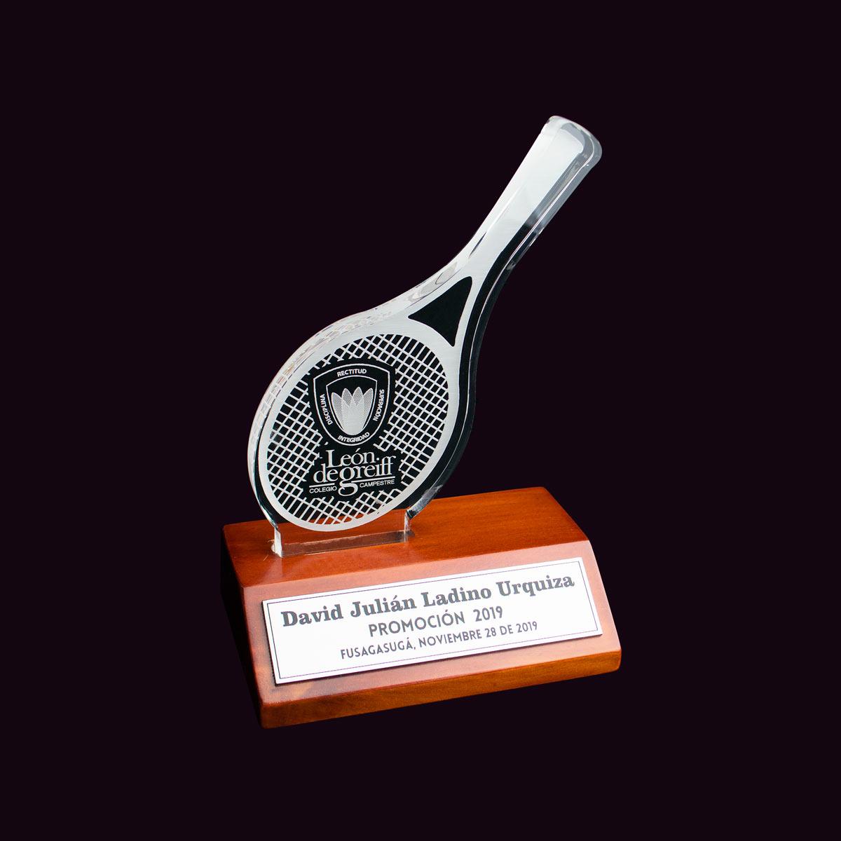 Trofeo Tenis Acrílico