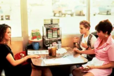 mother/daughter indie movie. three women sit in a diner.