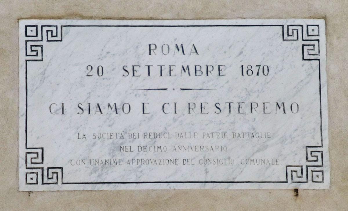 Roma, 20 settembre 1870, ricordate? | Circolo Vegetariano VV.TT. Treia