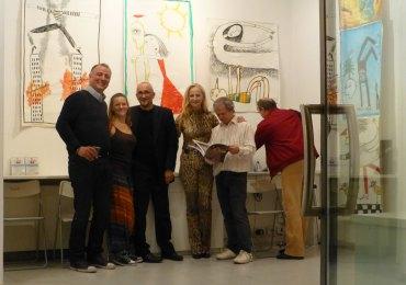 inaugurazione mostra pittura gianni franceschini alla galleria massella - verona