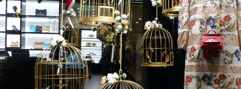 vetrina accessori e scarpe dolce e gabbana via mazzini verona