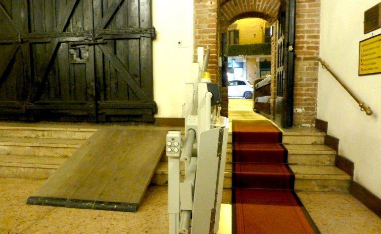 montascale e rampe per carrozzine disabili circolo ufficiali castelvecchio verona