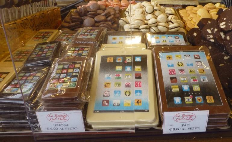 ipad e iphone di cioccolato verona