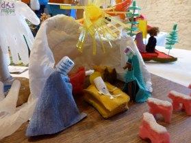 Spazzolini - Mostra concorso dei presepi con materiali riciclati a Palazzo della Ragione Verona