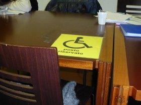 posto riservato alle persone con disabilità