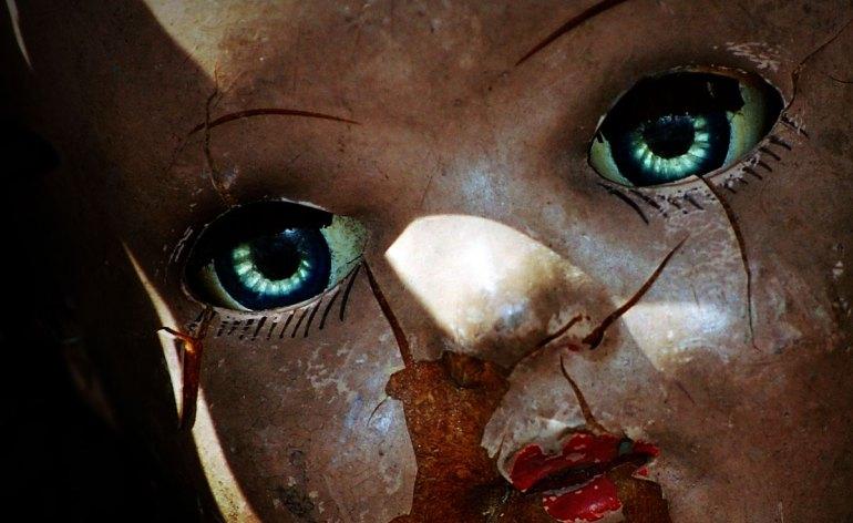 viso di bambola antica