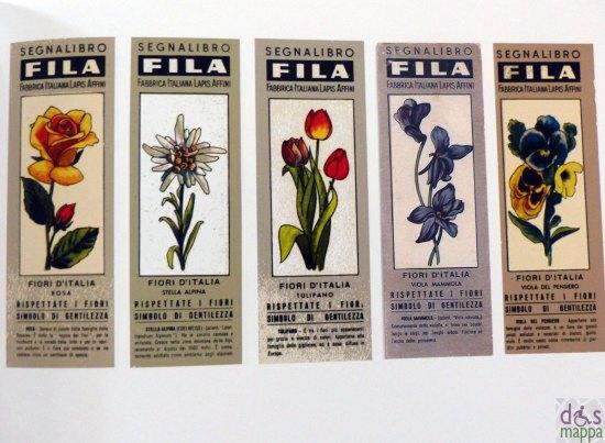 Uno su 500. Storia del segnalibro FILA catalogo fiori