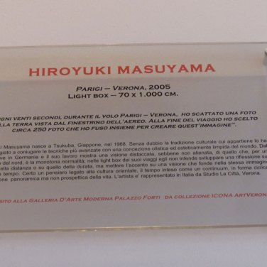 Hiroyuki Masuyama parigi-verona 2005 lightbox all'auditorium del palazzo della gran guardia di verona