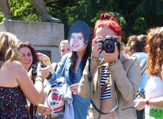 Verona il giorno del concerto degli One Direction all'Arena di Verona, unica data italiana del tour