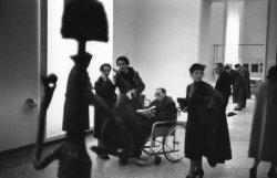Rene Burri ITALY. Milan. Palazzo Reale. 1953. PICASSO exhibition.