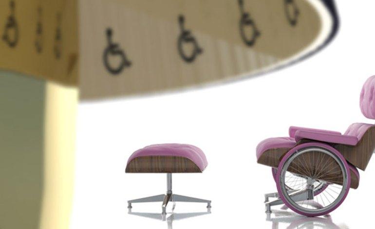 David Pompa giovane designer austriaco \ messicano, il suo stile surreale è stravagante e pieno di colore come il Messico e rigido e ordinato come l'Austria... a mettere in risalto questi due aspetti contrastanti le sue collezioni di mobili, originali che mettono a confronto stile antico, colori sgargianti, e un pizzico di creatività. Ecco i suoi coloratissimi arredi in cui ingloba ruote di carrozzina in design classici.