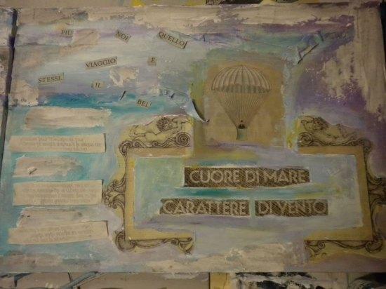 quadro di iaia zanella con mongolfiera