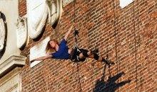 Le prove degli acrobati sulla Torre del Capitano