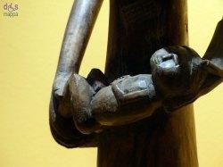 scultura africana natività - museo africano di verona