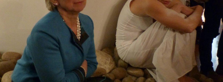 Assessore Anna Leso con Margherita Sciarretta
