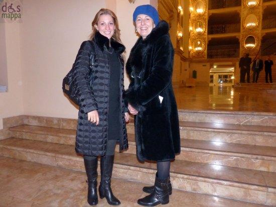 Tania Cefis e Patrizia Sugh,i della Comunicazione Fondazione Arena di Verona, ieri al Teatro Filarmonico