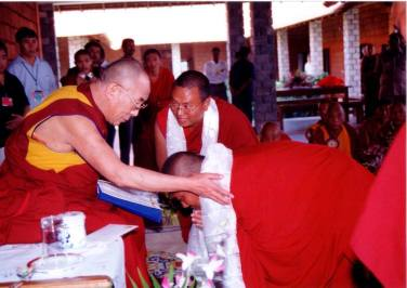 Benedizione del Dalai Lama