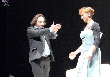 Applausi per Elisa Lolli e Stefano Cenci in Ofelia 4e48 al Teatro Camploy di Verona