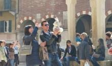 Piazza Erbe con coniglietto
