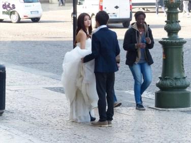 20140314 Wedding shooting Piazza Bra sposi Verona