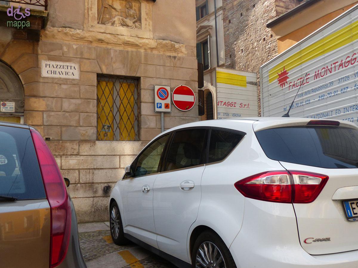20140317 Parcheggio disabili Piazzetta Chiavica Verona