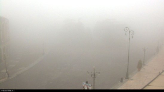 20140318 webcam piazza bra verona nebbia