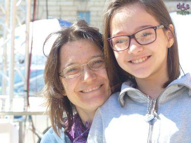 Valentina con la figlia