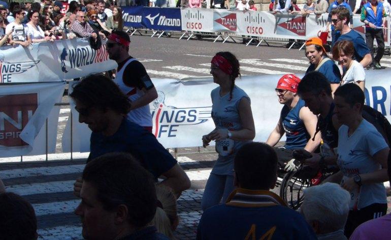 20140504 Wings for life world run Italy atleta disabile carrozzina Verona