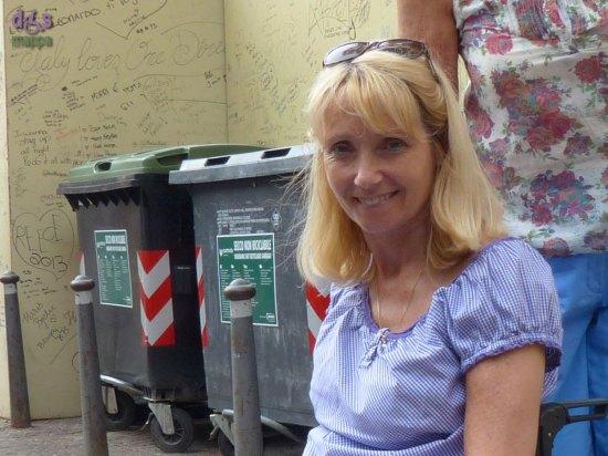 Ragazza tedesca disabile in vacanza a Verona