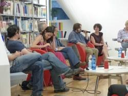 Foto dell'incontro con la compagnia di Lost in Cyprus sulle tracce di OTELLO: Giuseppe Battiston, Paolo Civati, Federica Sandrini