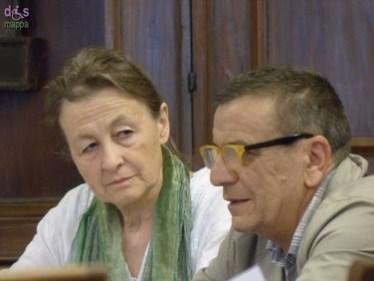 Jana Balkan e Augusto Radice - Foto della conferenza stampa in Sala Arazzi, Comune di Verona, il 4 luglio 2014 di presentazione della rassegna di prosa e danza che si teàà nel mese di luglio al Teatro Camploy di Verona