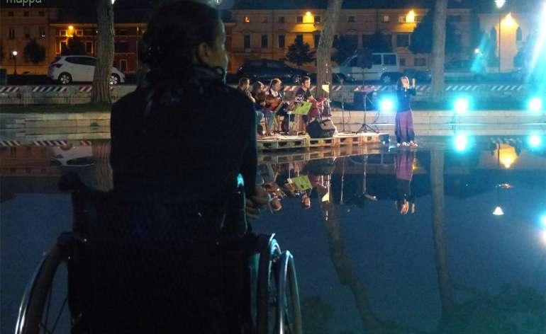 Carrozzina Festival AcquaZone concerto Insheer Arsenale Verona