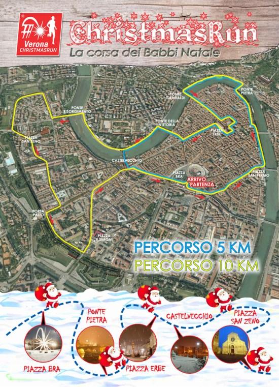 mappa percorso christmas run 2014