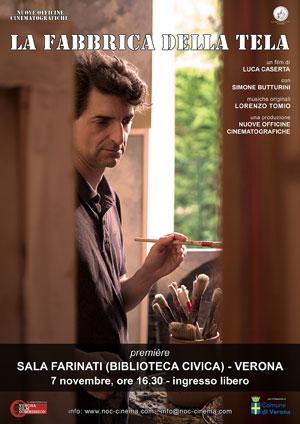 Locandina film La fabbrica della tela di Luca Caserta
